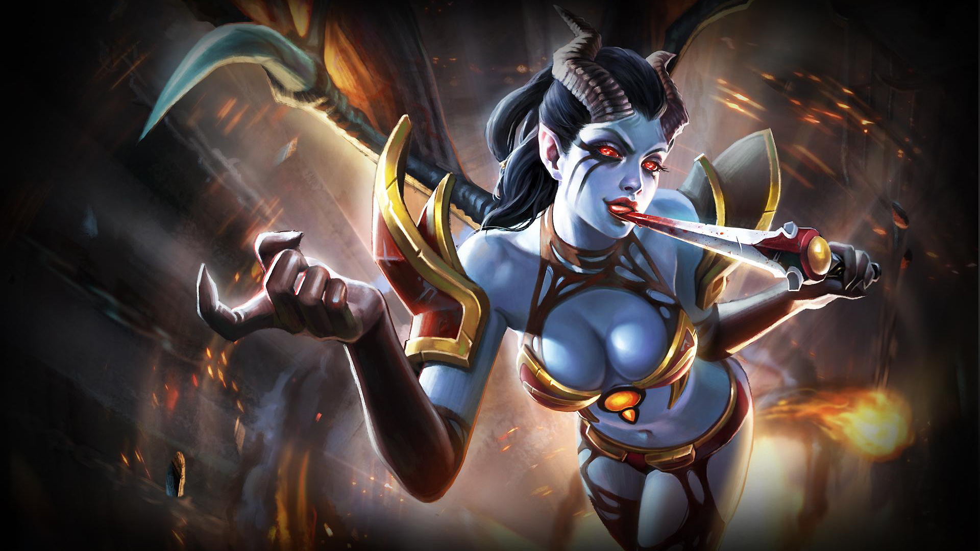 Dota 2 Queen Of Pain Background Is Cool Wallpapers