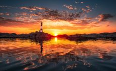 Lighthouse Sunset Wallpapers Wide Is Cool Wallpapers