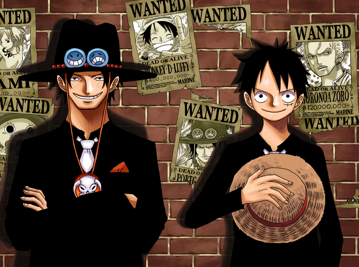 One Piece Luffy And Ace Wallpaper Wide Is Cool Wallpapers
