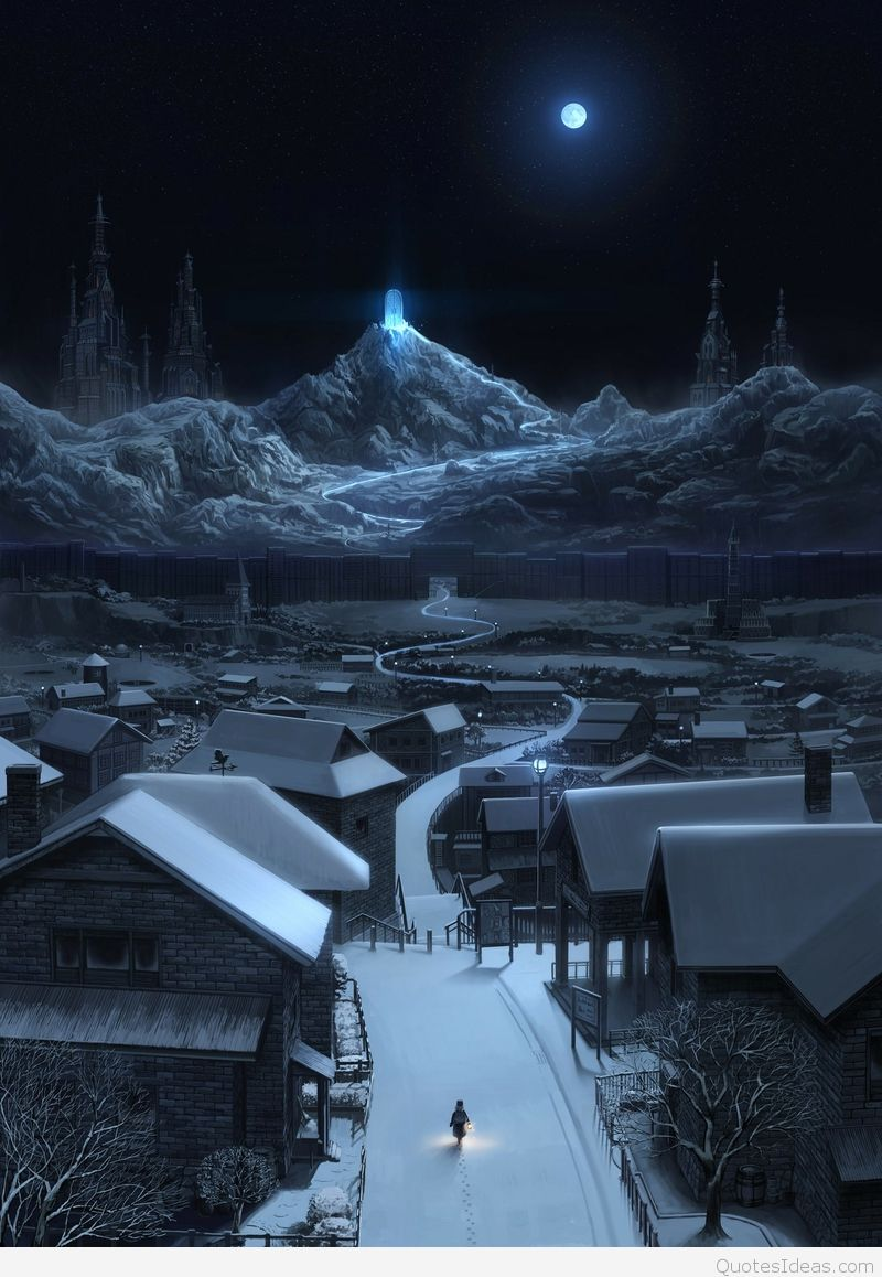 Snow Night Wallpaper Wide Is Cool Wallpapers