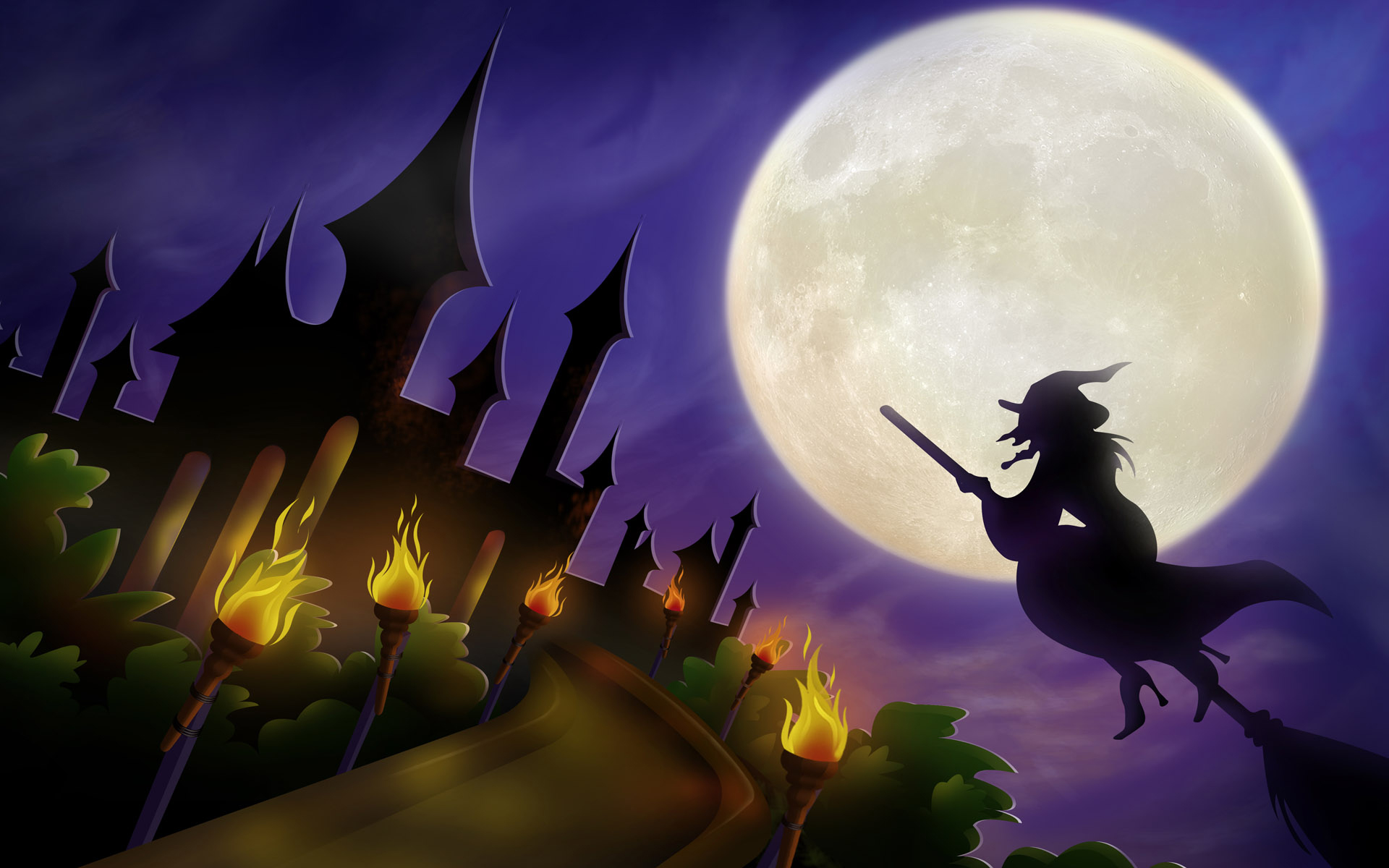 Vintage Halloween Witch Wallpaper Is Cool Wallpapers