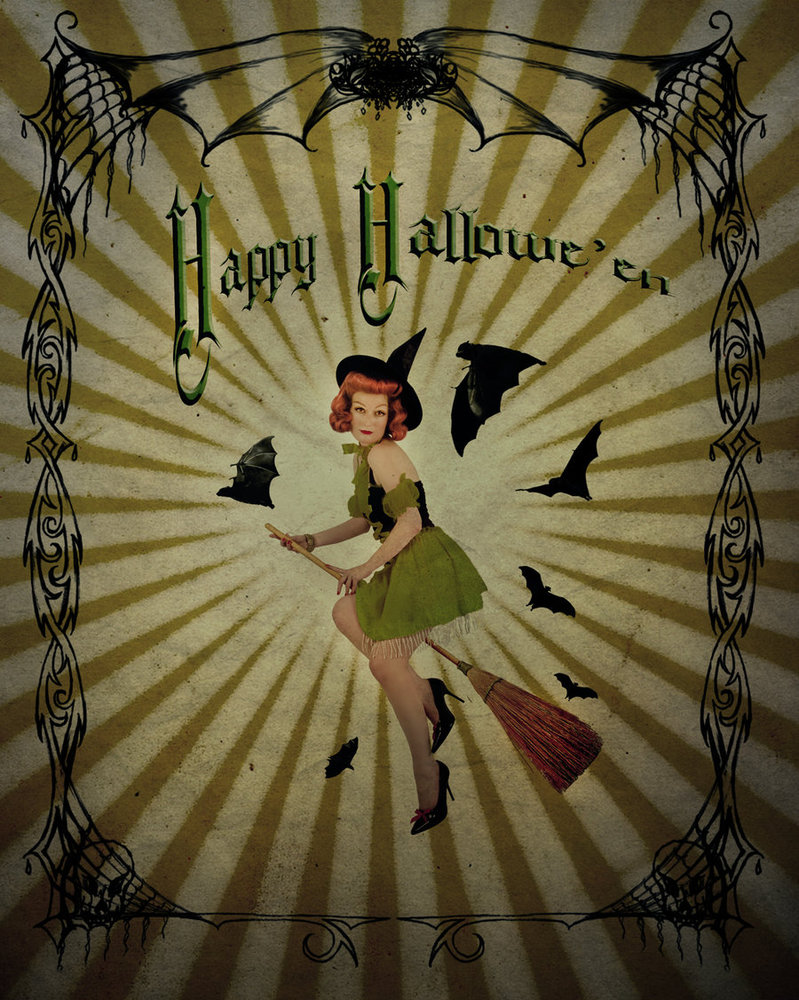 Vintage Halloween Witch Wallpaper High Quality Resolution Is Cool Wallpapers