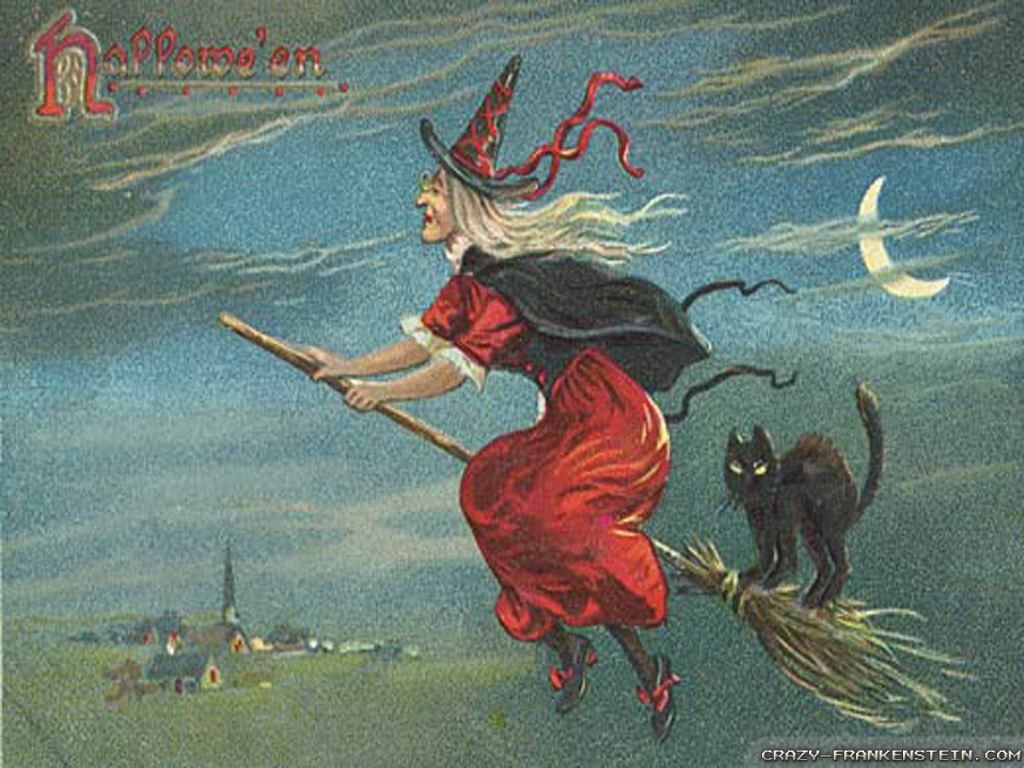 Vintage Halloween Witch Wallpapers High Resolution Is Cool Wallpapers