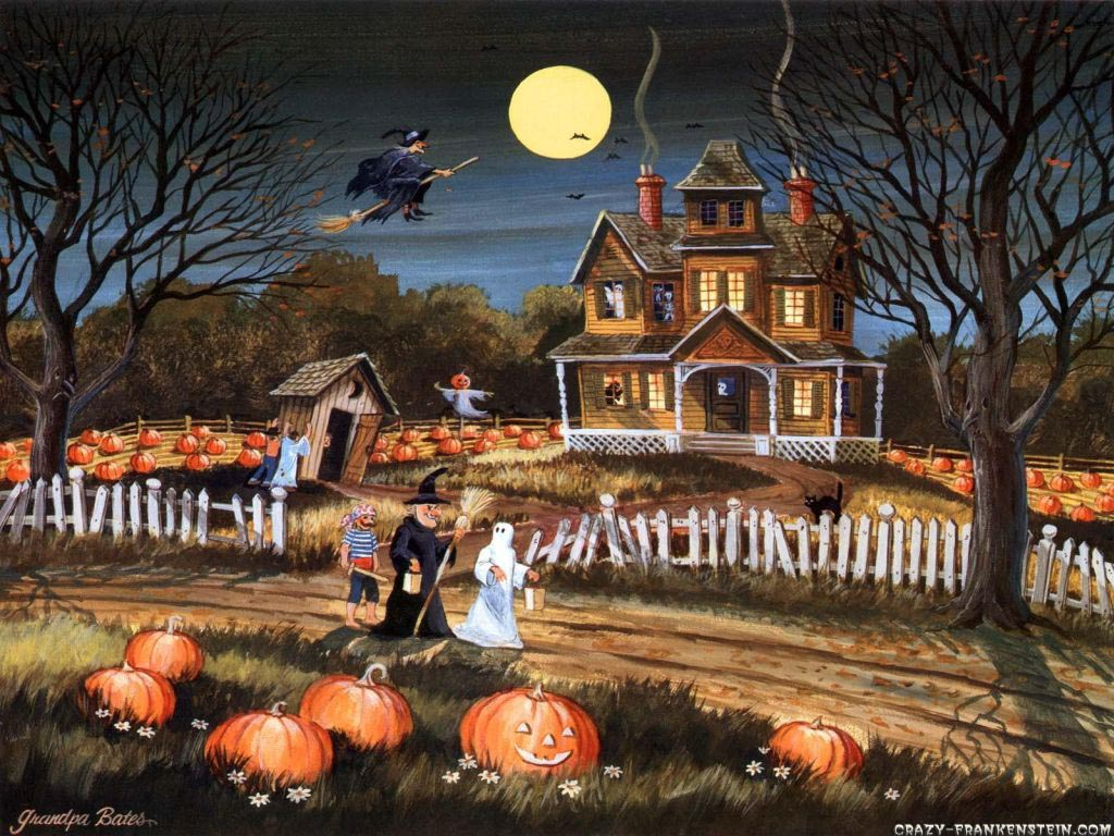 Vintage Halloween Witch Wallpapers Widescreen Is Cool Wallpapers