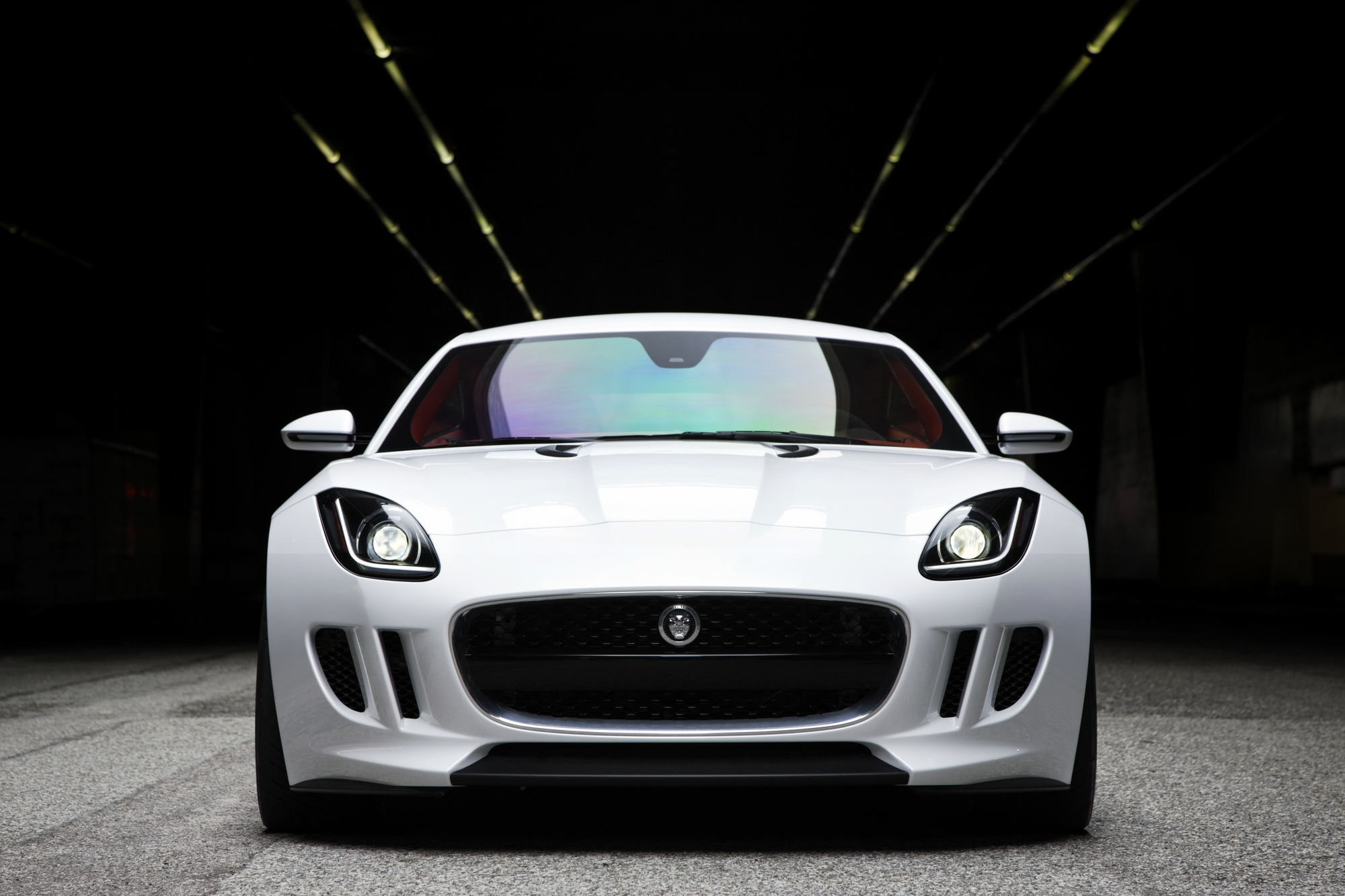 White Jaguar Car Wallpaper Mobile