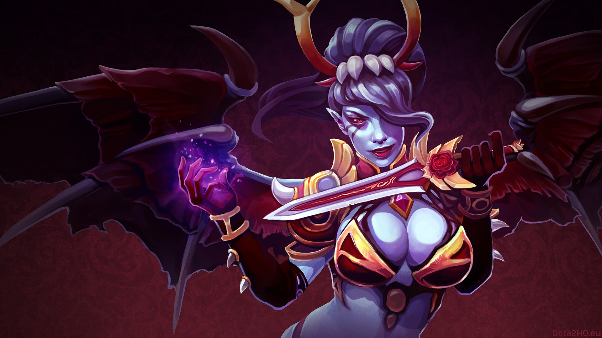 Dota 2 Queen Of Pain Wallpapers Desktop Background Is Cool Wallpapers