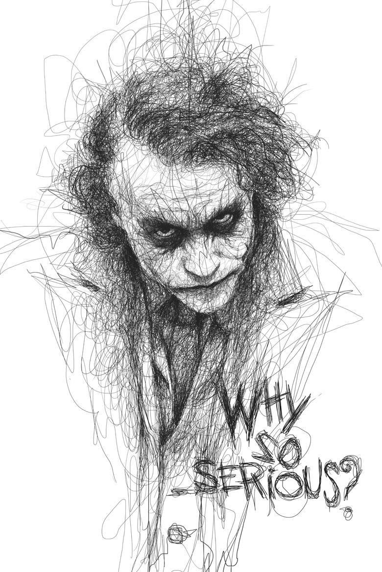 Download Joker Why So Serious Drawings Wallpaper Hd Resolution Is