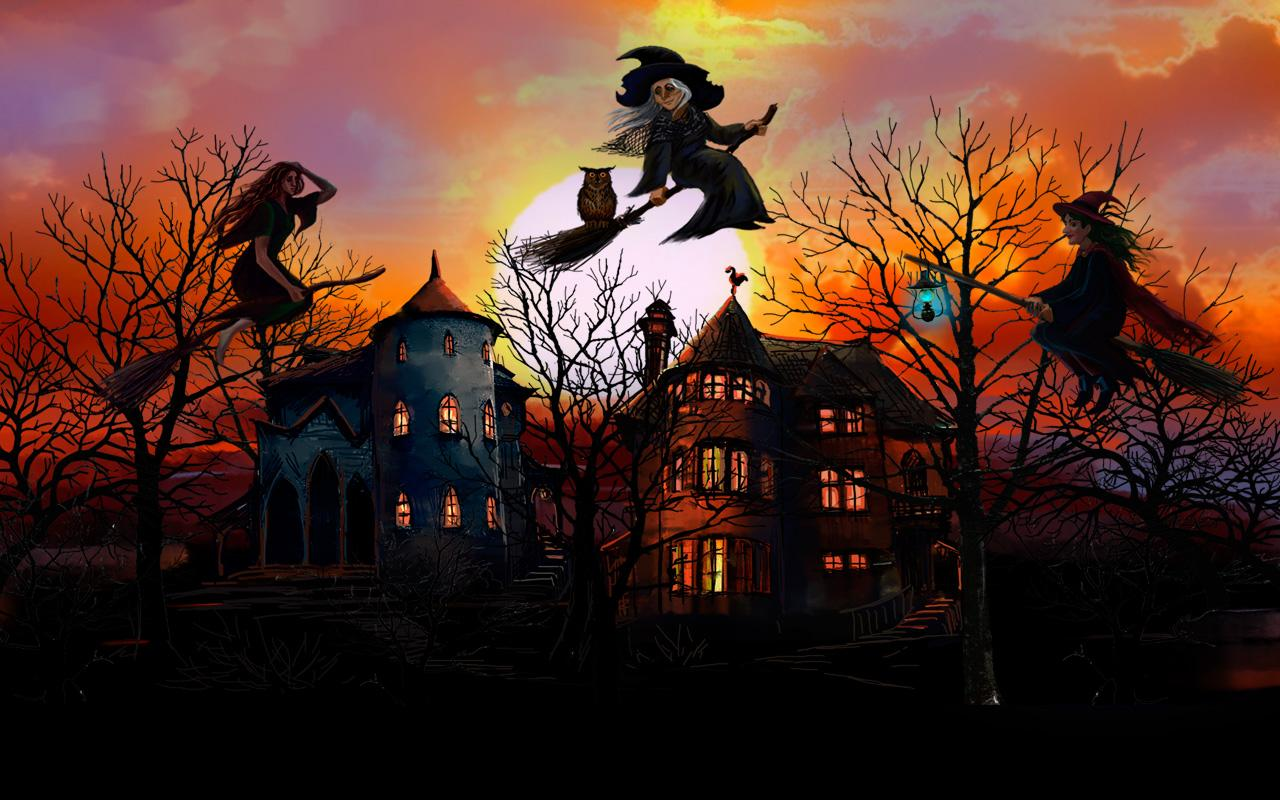 Vintage Halloween Witch Wallpaper Full Hd Is Cool Wallpapers